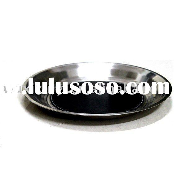 Round Stainless Steel Serving Tray
