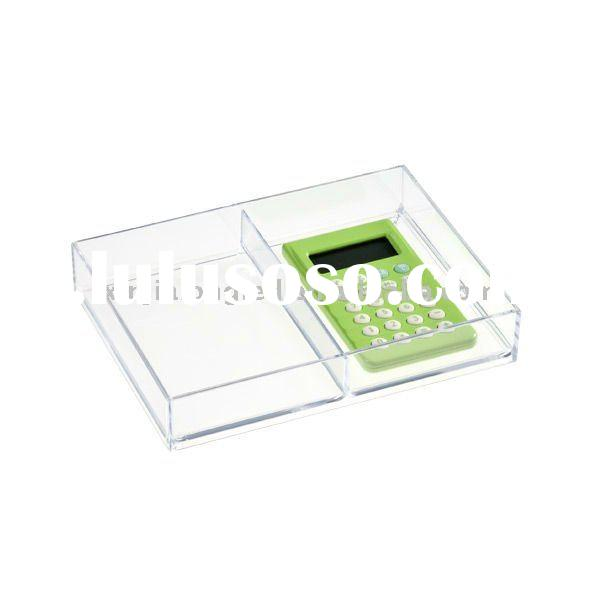 Sectioned Acrylic Drawer Organizer Divider or Acrylic Storage Tray