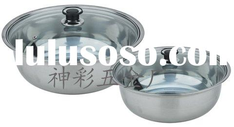 Stainless Steel Condiment Pot with glass lid