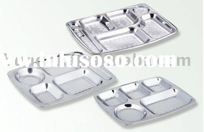 Stainless Steel Round Food  Tray