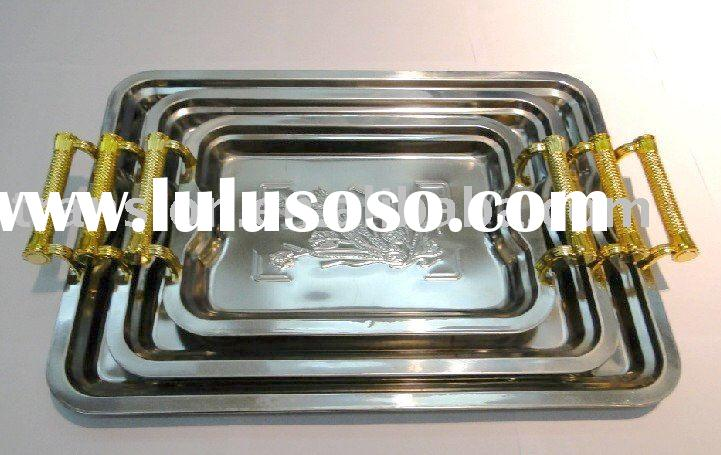 Stainless steel Food Tray Set