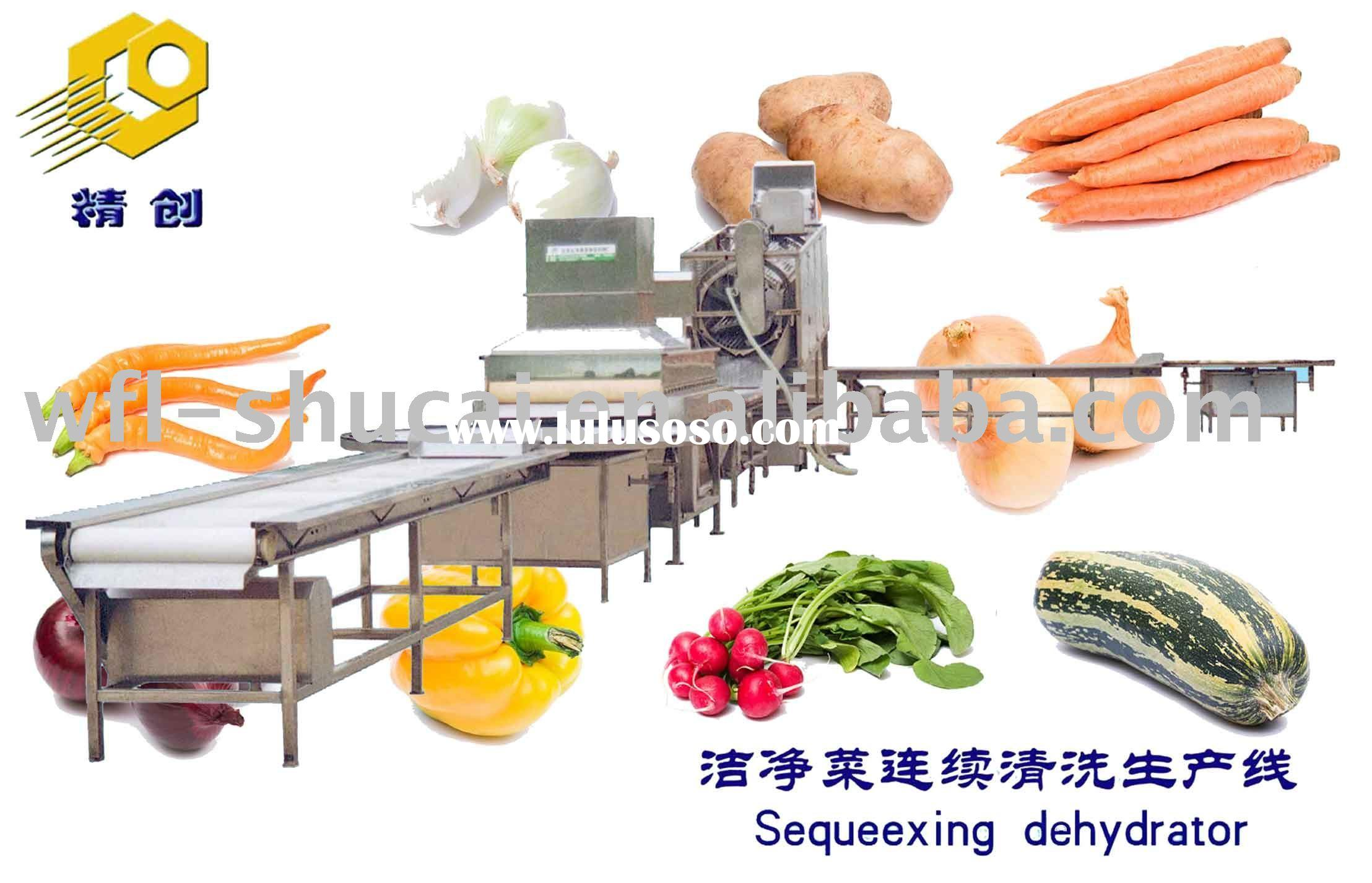 Vegetable and fruit pre-processing machinery