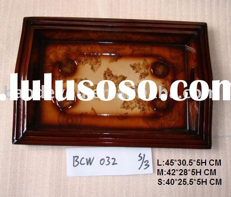 antique flavour elegant table decor wooden MDF food serving tray
