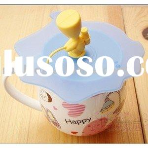 cartoon Lazy boy silicone magic cup cover,Cute Silicone Cup Cover
