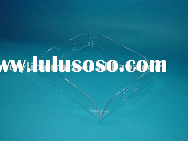 clear acrylic food serving tray