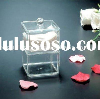 clear acrylic small storage or acrylic container box with two tiers