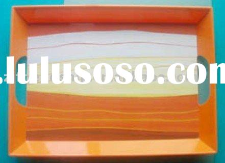 eco-friendly plastic serving tray with handle