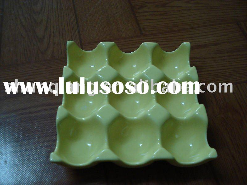 new design stock ceramic egg tray