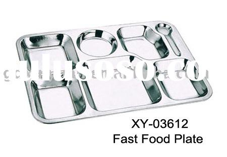stainless steel tray, lunch tray,food plate