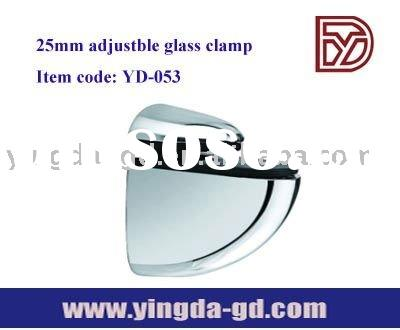 Adjustable 0-25mm glass shelf bracket/support