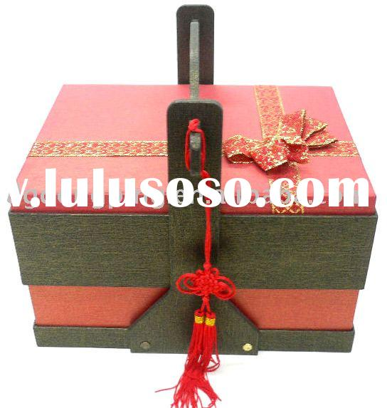 Chinese Traditional Style Portable Wedding Cakes Paper Box