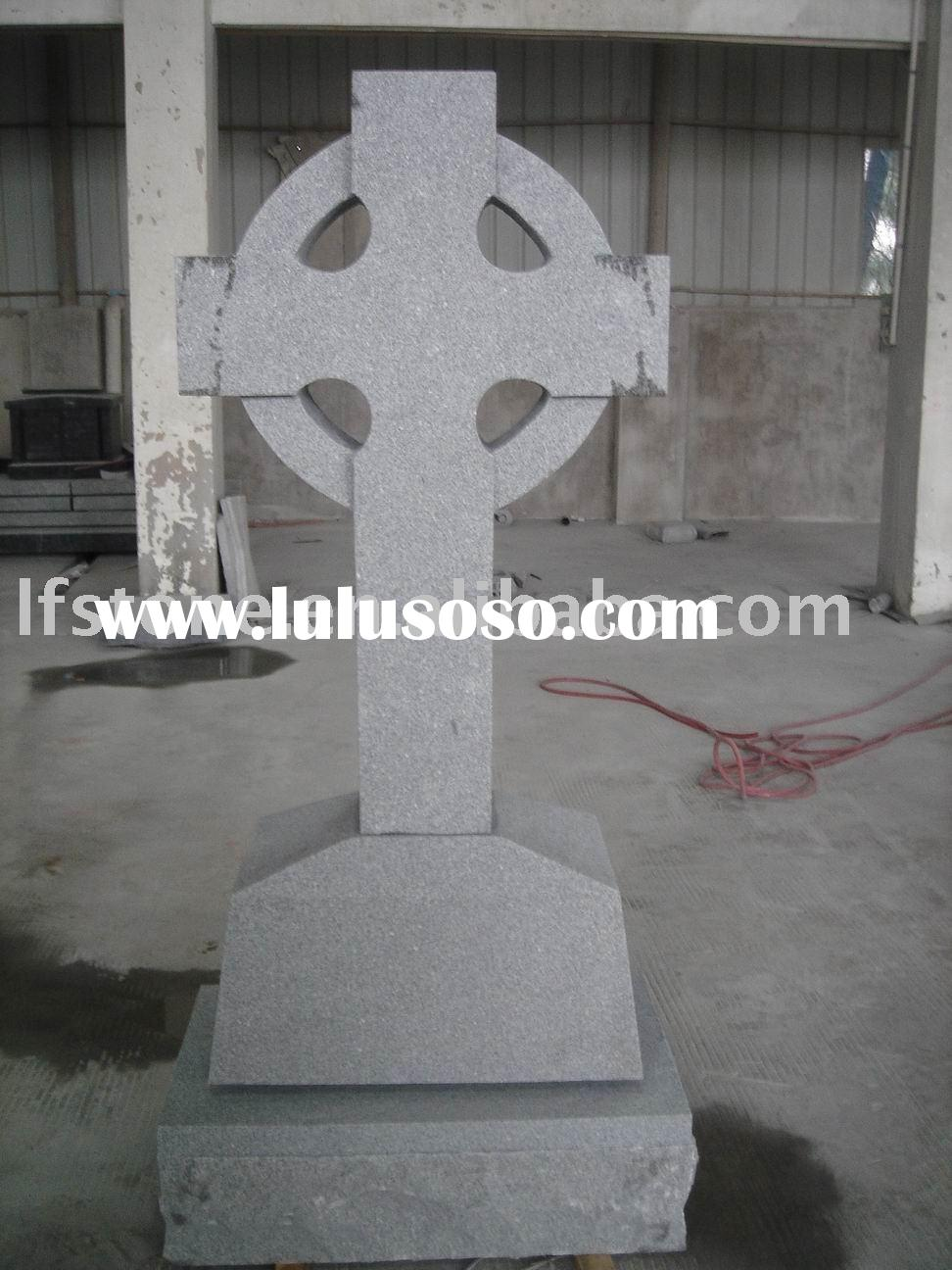 Gray granite celtic cross