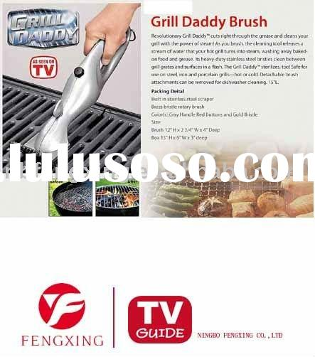 Grill brush for Motorized grill brush with steam cleaning power