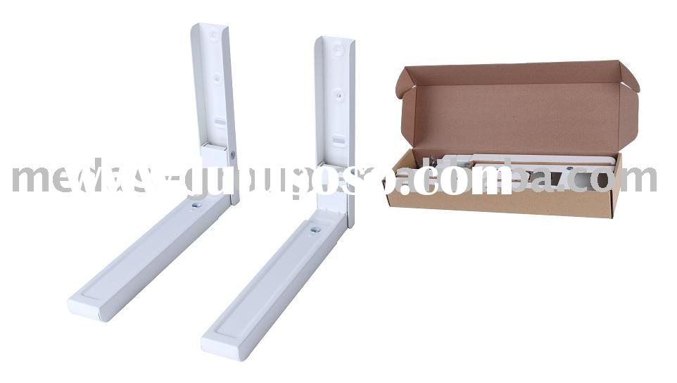 Microwave oven wall shelf bracket