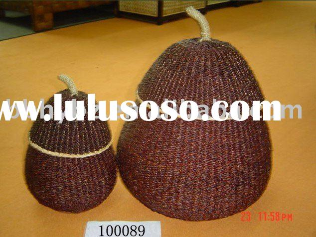 Paper fiber pear shaped craft wedding decoration