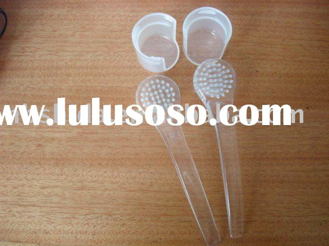 Plastic Facial cleaning brush with long handle
