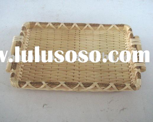 Willow tray for food,fruit azo free and low cadium.