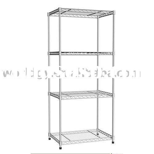 Wire Storage Display Shelf,Chrome  Metal Shelf Bracket
