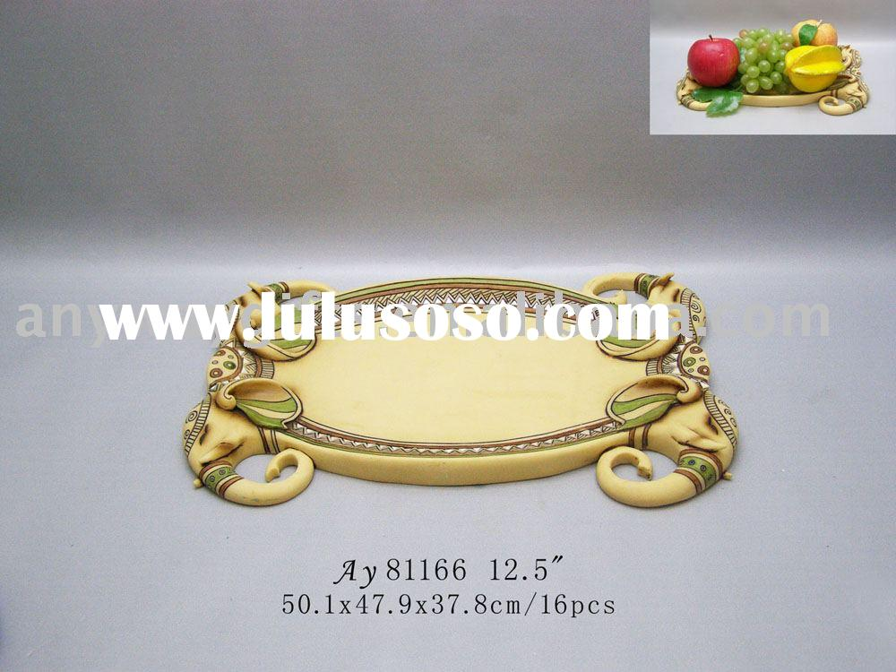 (New)Resin Elephant(fruit tray) polyresin craft promotion gifts home decoration