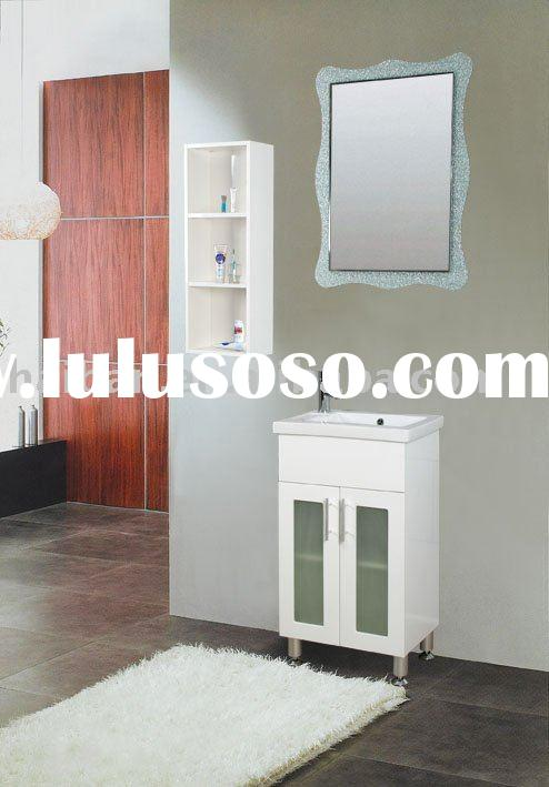 bathroom modern vanity cabinet  with polymarble  basin