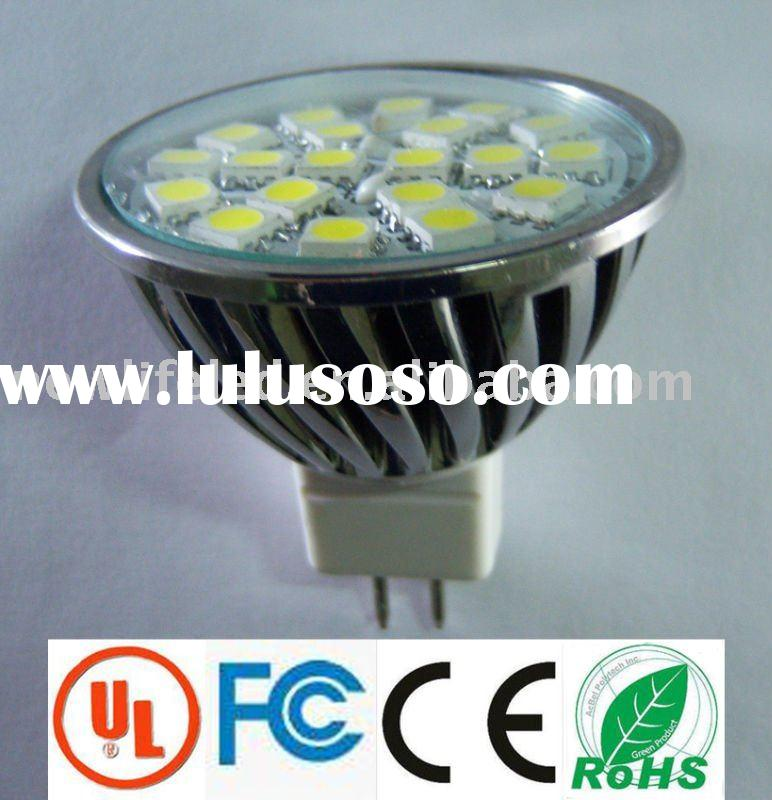 12v 4w MR16 360lm white 5050SMD 20leds rgb led & lamp  Warranty 1year 30/lot