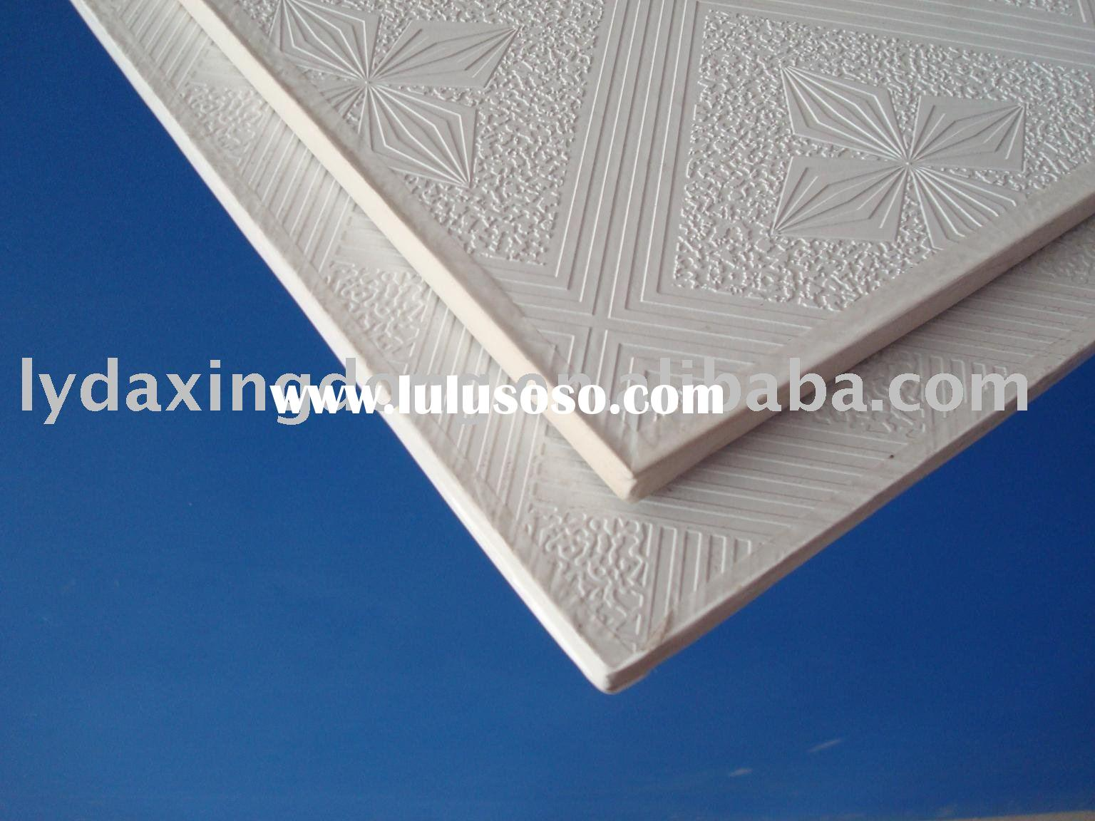 Decorative PVC ceiling tiles with gypsum