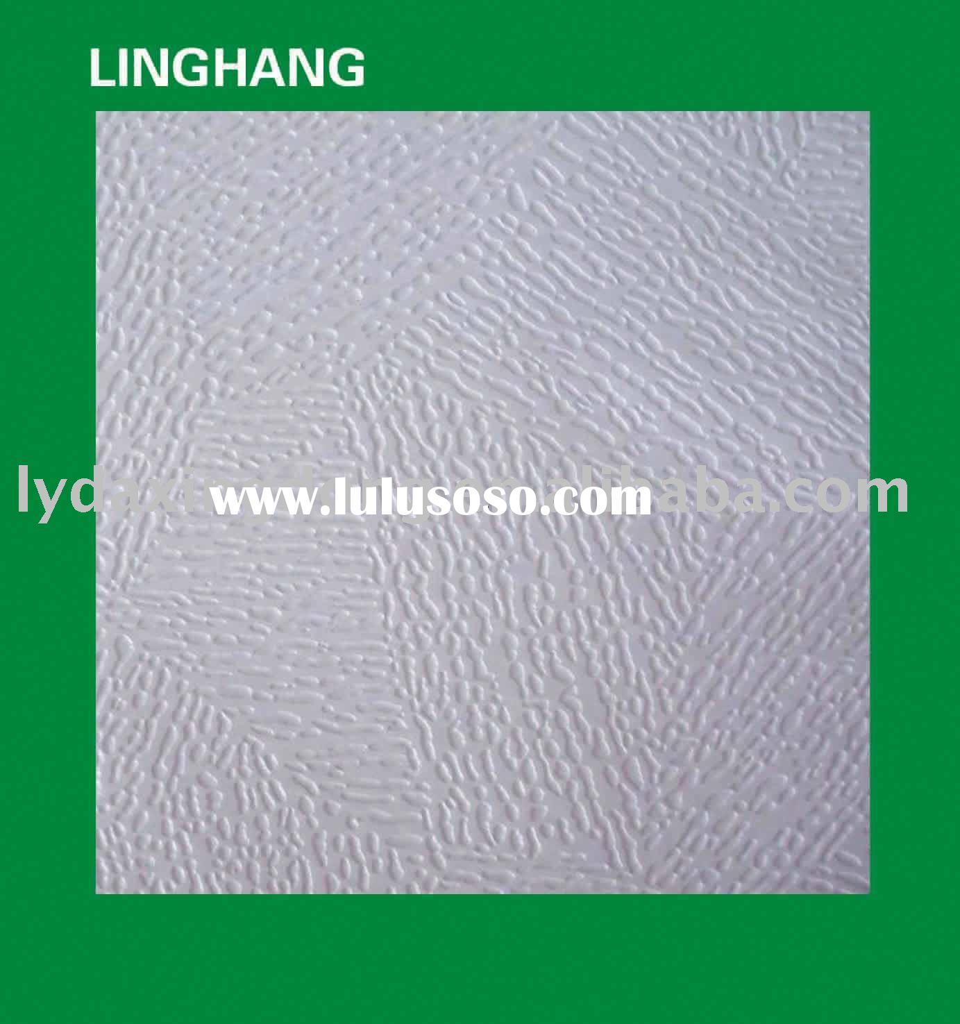 Decorative PVC gypsum ceiling tiles/boards