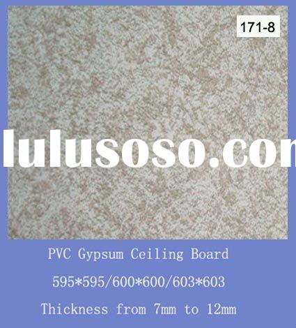Gypsum plaster False ceiling board with pvc design