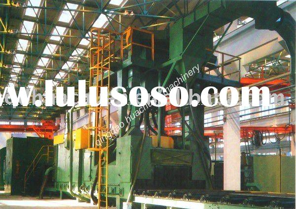 H beam steel shot blasting machine