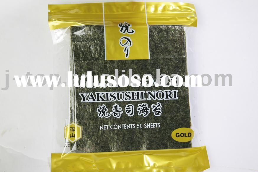 J.TOP 50sheets GOLD grade Yaki sushi food, roasted seaweed laver for japanese restaurant