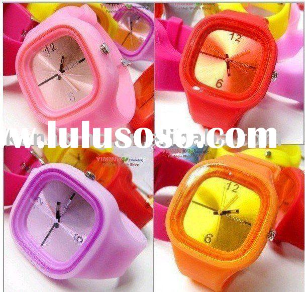 Jelly Silicone Wristband Watch Accept Paypal