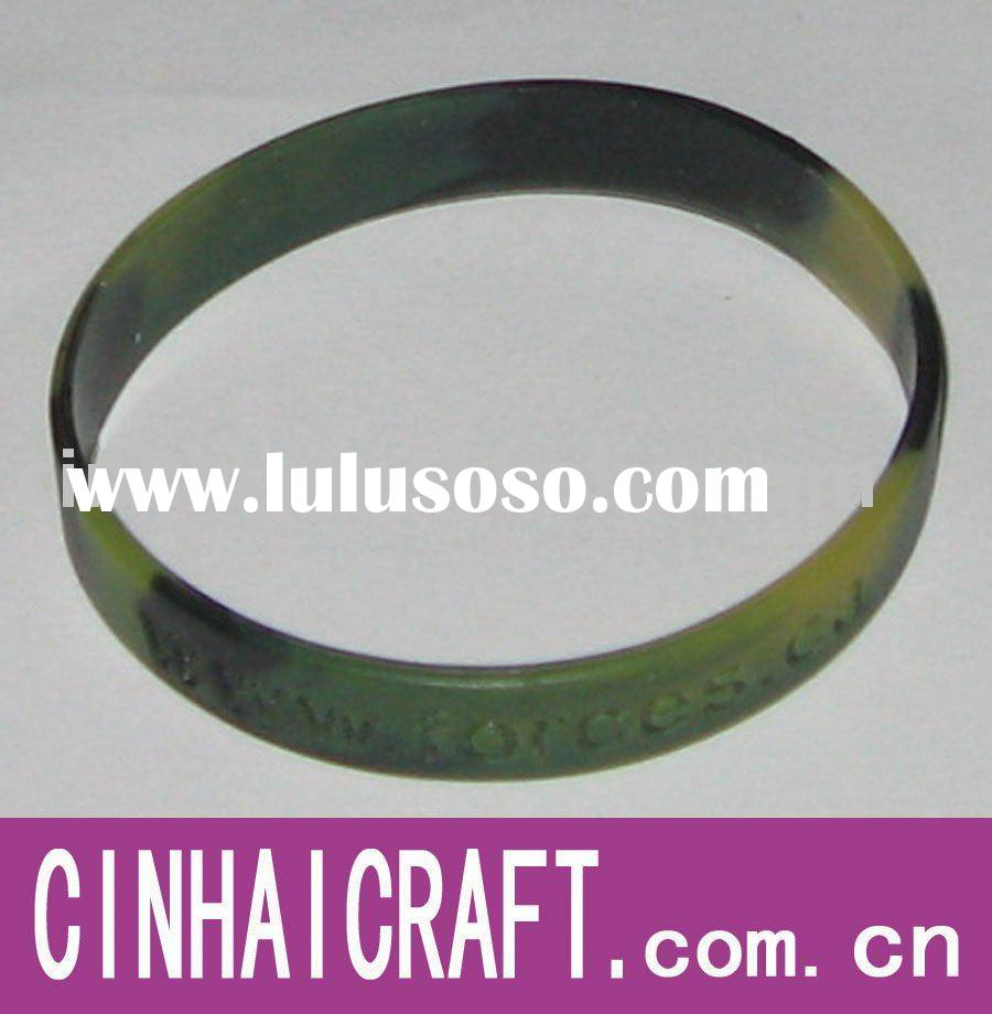 Mixed color Debossed Silicone wristband in cheapest price