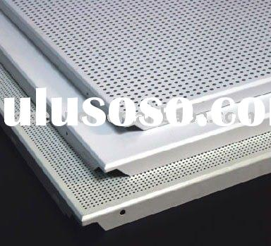 Perforated aluminum ceiling tile,metal supended ceiling panel(clip in ceiling panel and lay in ceili