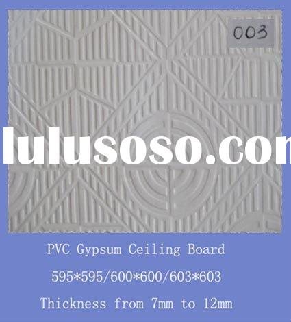 Plaster Gypsum Ceiling Board With PVC Design