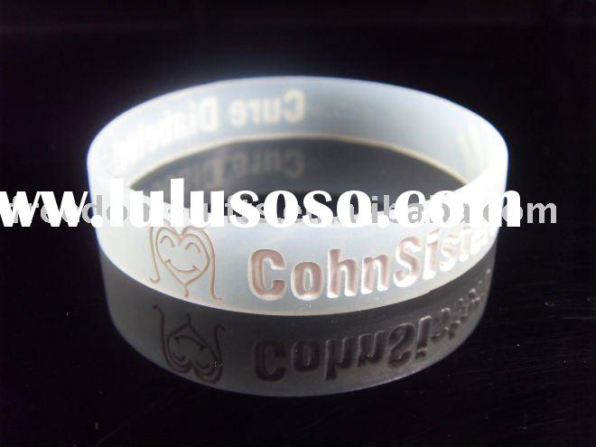 Promotional Customized Debossed Silicone Wristband