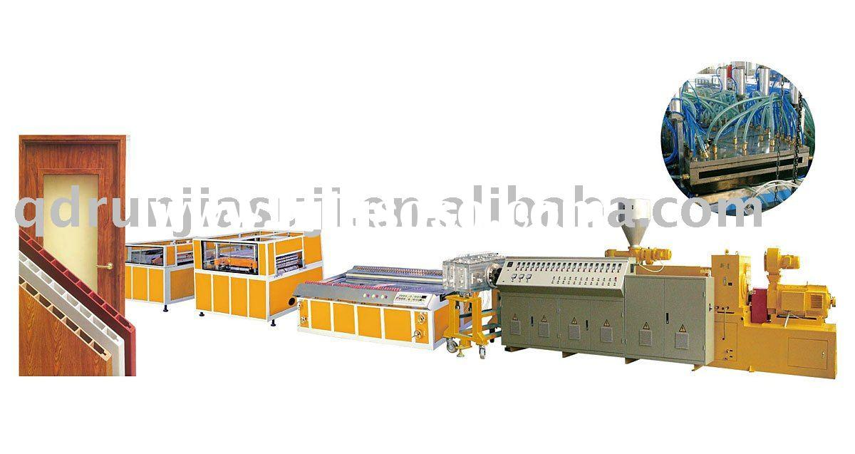 WPC wood plastic composite door board extruder  machine