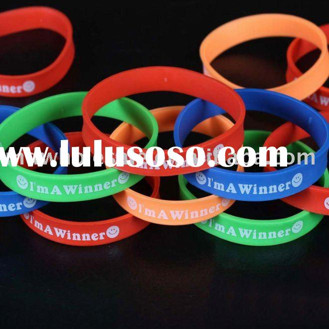 Wholesale Silicone Bracelet with logo silicone Wristband 600pcs/lot customized wristband Fast delive