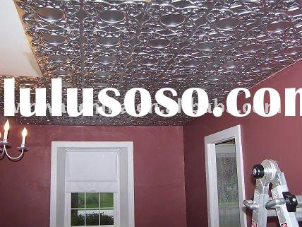 Antiqued Metal Tiles - Faux Tin Ceiling Tiles - Copper Ceiling