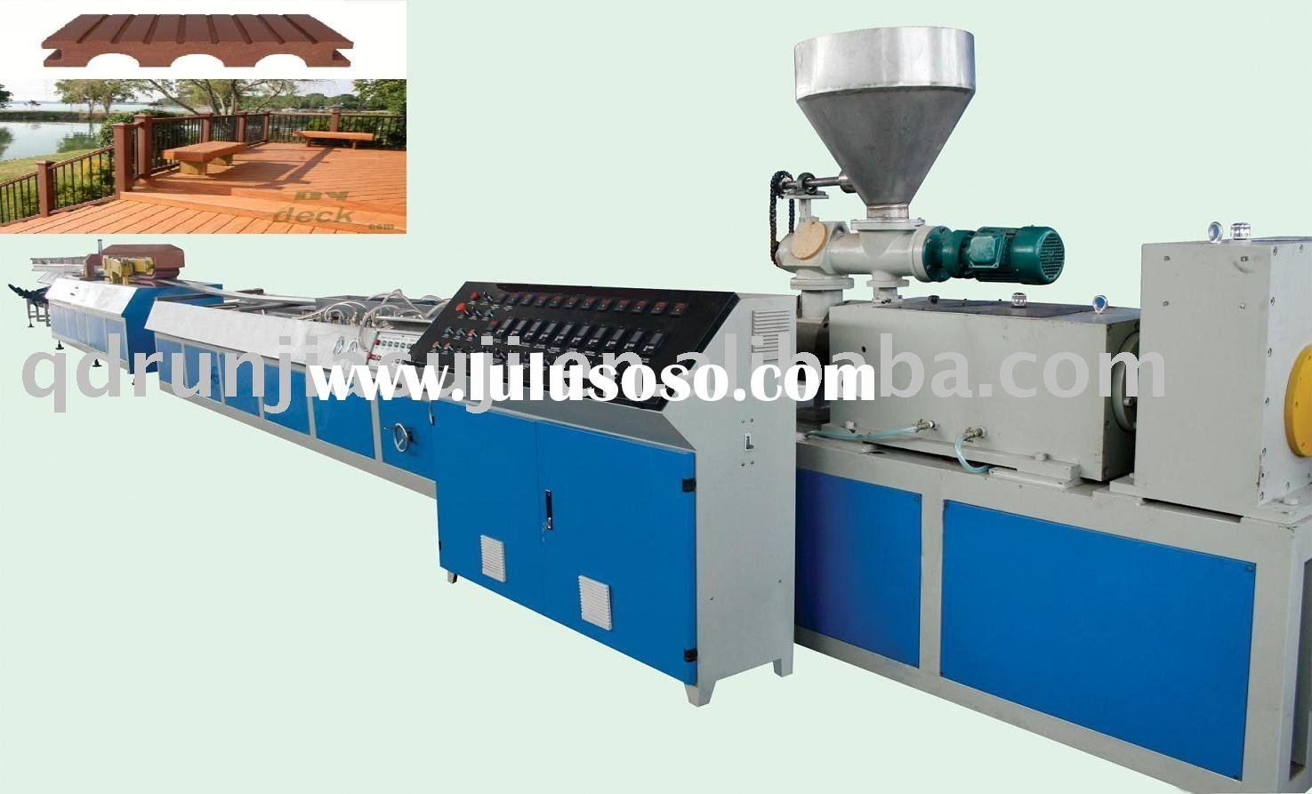 wpc wood plastic composite profile extrusion machine manufacture