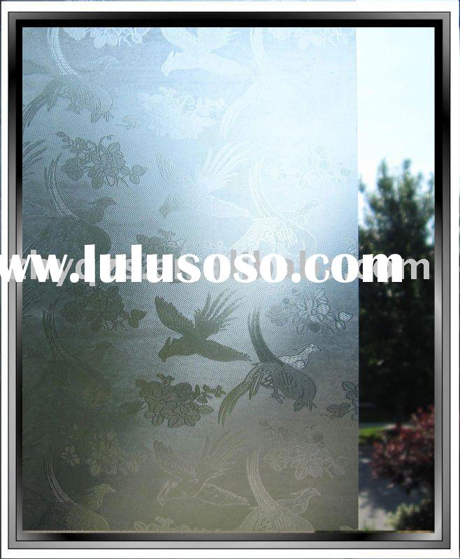 Decorative window glass film with pattern