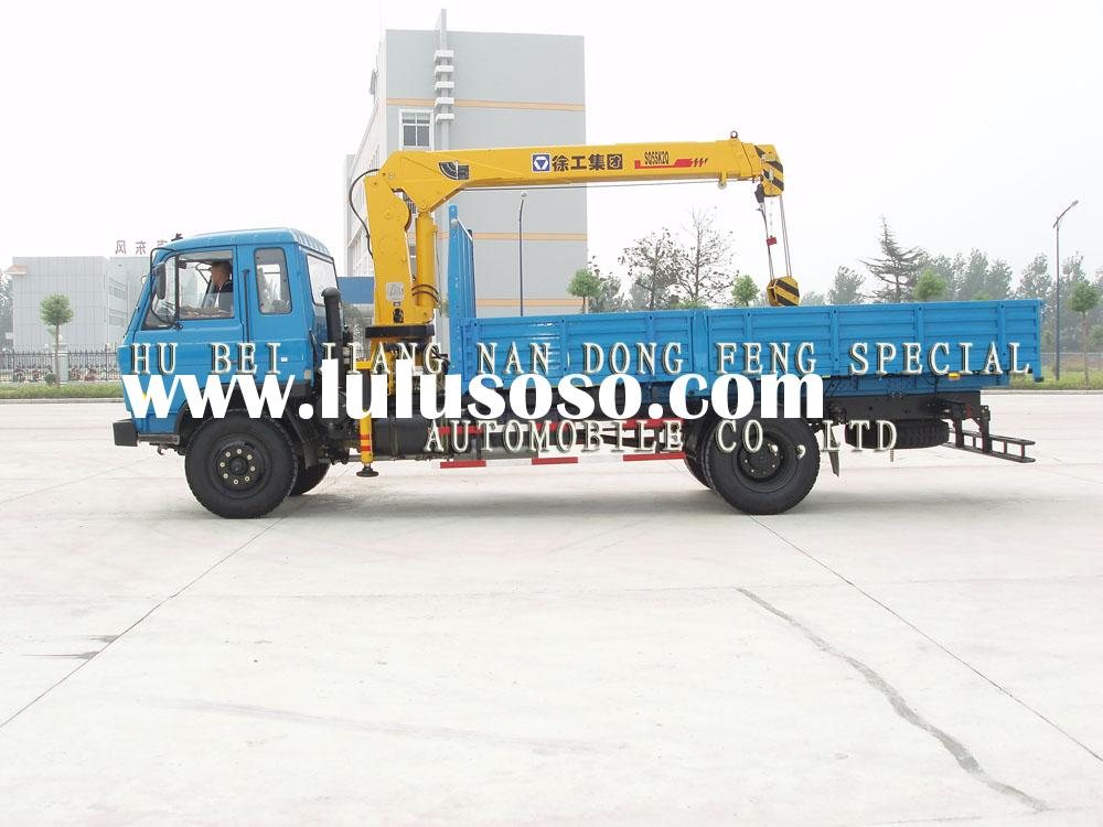 Dongfeng EQ145 truck cargo crane for sale(telescoping boom crane)