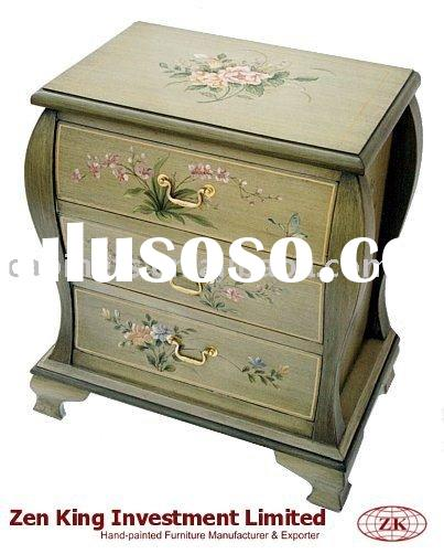 Hand Painted Wooden Bombay Chest