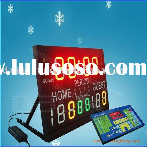 LED portable electronic basketball scoreboard
