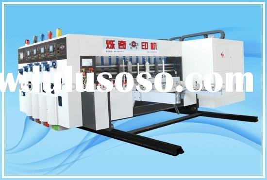 Paper box making machine 321 series automatic feeding four colors printing die cutting with slotting