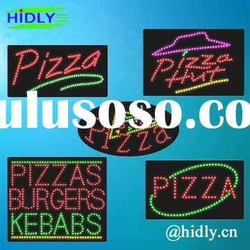 Pizza sign factory/signboard/neon sign/open signboard/custom sign/advertising lighting