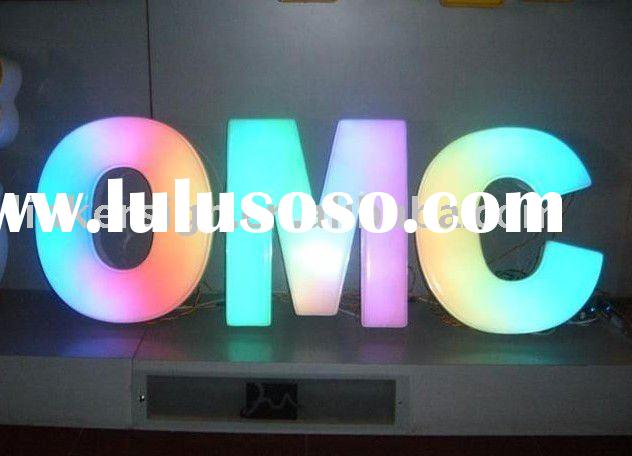 outdoor used RGB  led channel letter signs
