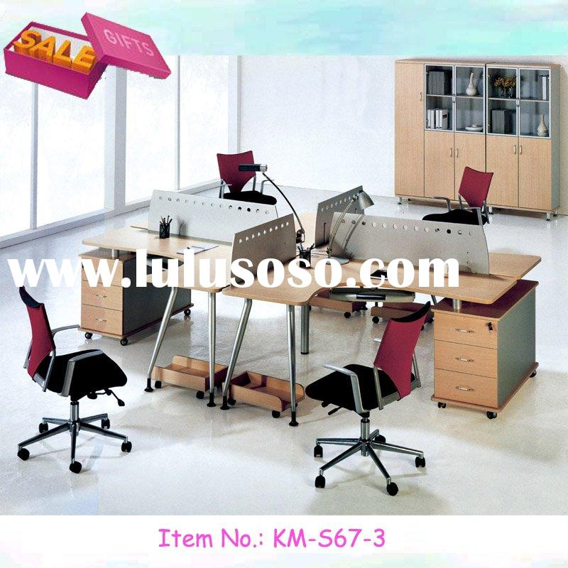 simple design modual furniture office workstation 4 seaters