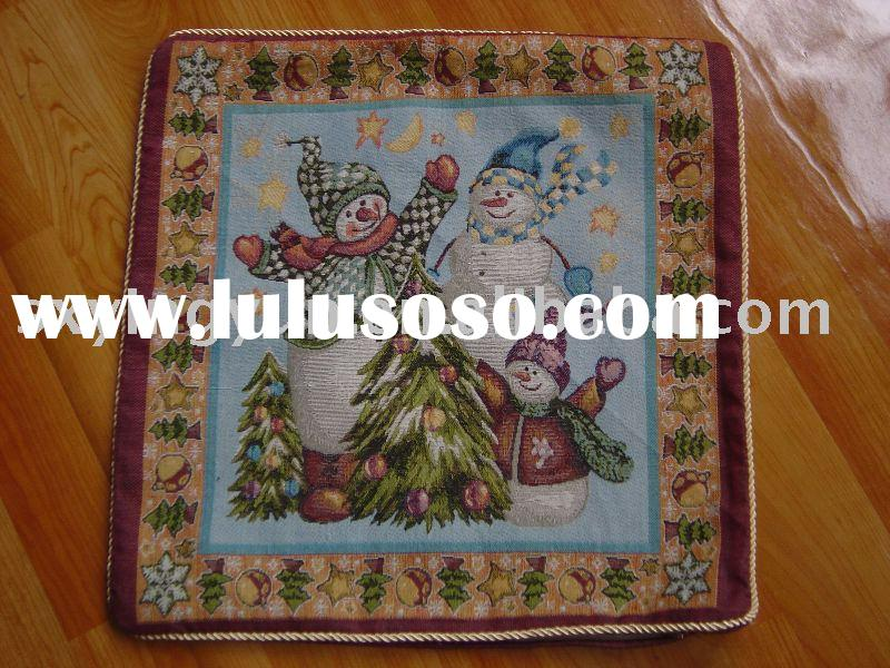 Christmas cushion cover, jacquard  cushion,pillow,sofa cushion,chair cushion,seat cushion