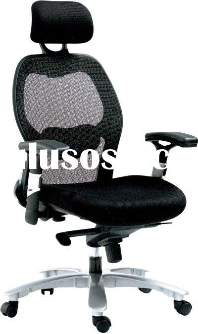 High quality office chair with headrest,mesh cushion and back