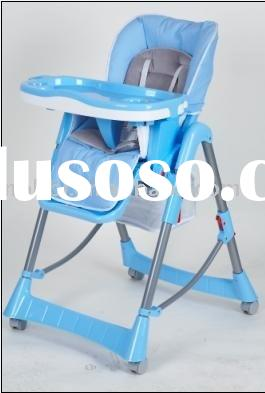 LHB-009 plastic baby high chair with cushion